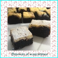 BROWNIES AL MASCARPONE